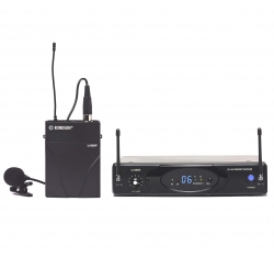 UHF Diversity transmitter and lapel microphone set