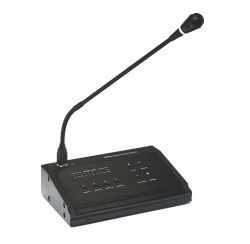 4-zone call microphone station compatible for amplifiers AM 4120 and AM 4240