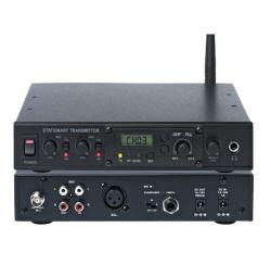 Station émetteur fixe pour système de visite UHF avec 1 récepteur WT-808R