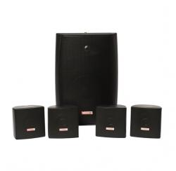 PACK 150 N - Kit de sonorisation pour commerces avec enceintes noires