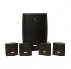 Packs with 4 wall-mounted speakers with 1 subwoofer