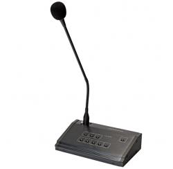 Microphone pupitre d'appel 6 zones compatible avec préamplificateur T-6000