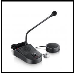 Double communication counter intercom