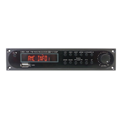 RDS Tuner Module with 24 storable stations, USB compatible with PS and ZA amplifier series