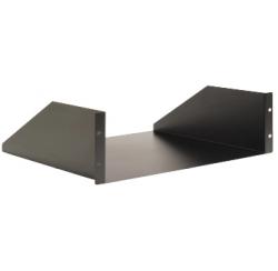 """Etagères acier noires 19"""" pour fixation en rack 1U"""