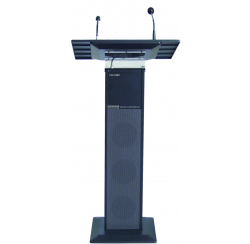 40W black amplified speaker column with microphone