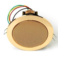 6 W gold ceiling speaker