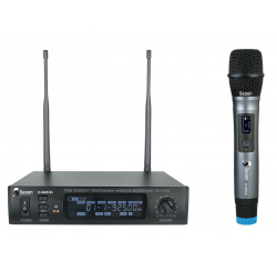 UHF set with handheld microphone and receiver box