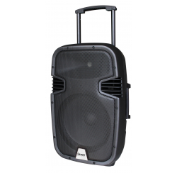 130 W powered speaker with 2 UHF microphones and USB / SD / MP3 / BLUETOOTH