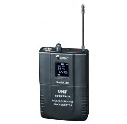 Boitier émetteur UHF avec micro cravate et micro casque pour JS-WM18