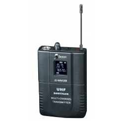UHF transmitter box & lapel microphone + headset microphone for JS-WM18