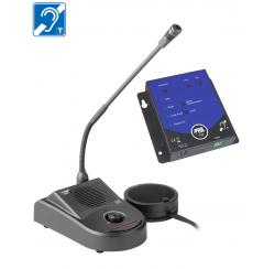 Système kit de boucle à induction magnétique de comptoir avec interphone de guichet
