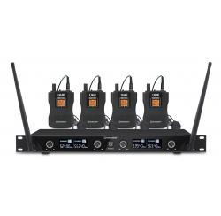 Ensemble récepteur UHF avec 4 micro-cravates