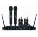 BE-1040/2MIC/2BP - Ensemble récepteur UHF avec 2 microphones main et 2 micro-cravates