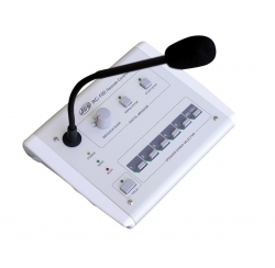 Microphone desk with remote control