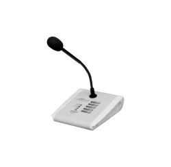 Pupitre microphone d'appel 4 zones