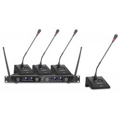 Système de conférence sans fil 4 canaux