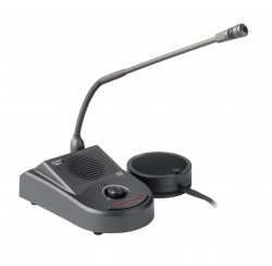 Counter intercom with integrated microphone and speaker