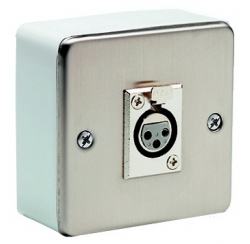 Wall-mounted box 3-pin XLR female socket