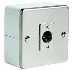 Wall-mounted box 3-pin XLR male socket