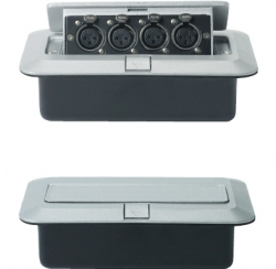 Floor box with 4 XLR sockets