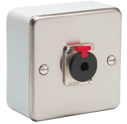 Wall-mounted box with 6.35 mm jack socket