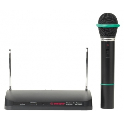 Receiver set with wireless handheld microphone