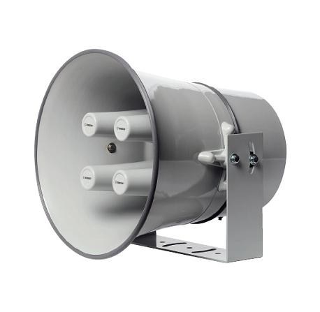 Pavillon circulaire aluminium gris clair - 4 trompes