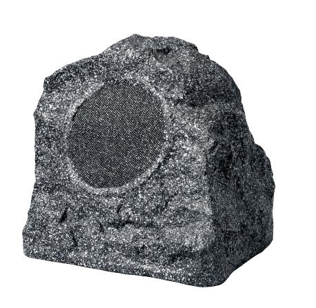Enceinte d'extérieur en forme de rocher gris