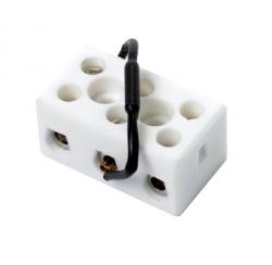 Ceramic terminal block with fuse