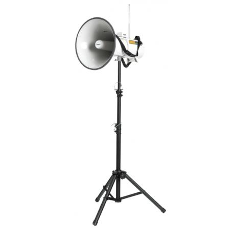 F8+ER - Pied pliant en métal noir pour porte-voix