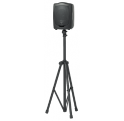 Black anodised aluminium telescopic folding stand for 10 Kg loudspeakers
