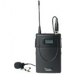 Boîtier émetteur UHF 16 Fréq. + mic cravate