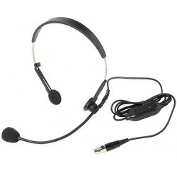 Microphone serre-tête avec contrôle de volume