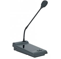 In-call microphone station compatible with amplifiers AM 120 6/2 and AM 240 6/2