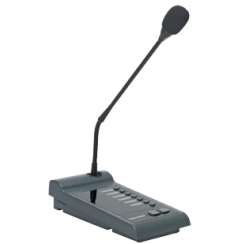 Pupitre microphone d'appel 6 zones