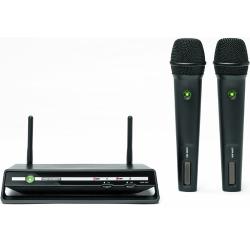 Receiver set with 2 handheld 2.4 GHz microphones