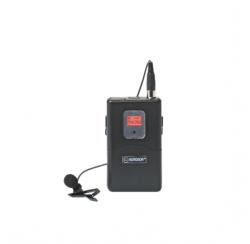 Boîtier émetteur avec microphone cravate compatible avec la série BE-5018 et BE-5038