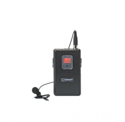 Transmitter housing with lapel microphone compatible with BE-5018 and BE-5038 series