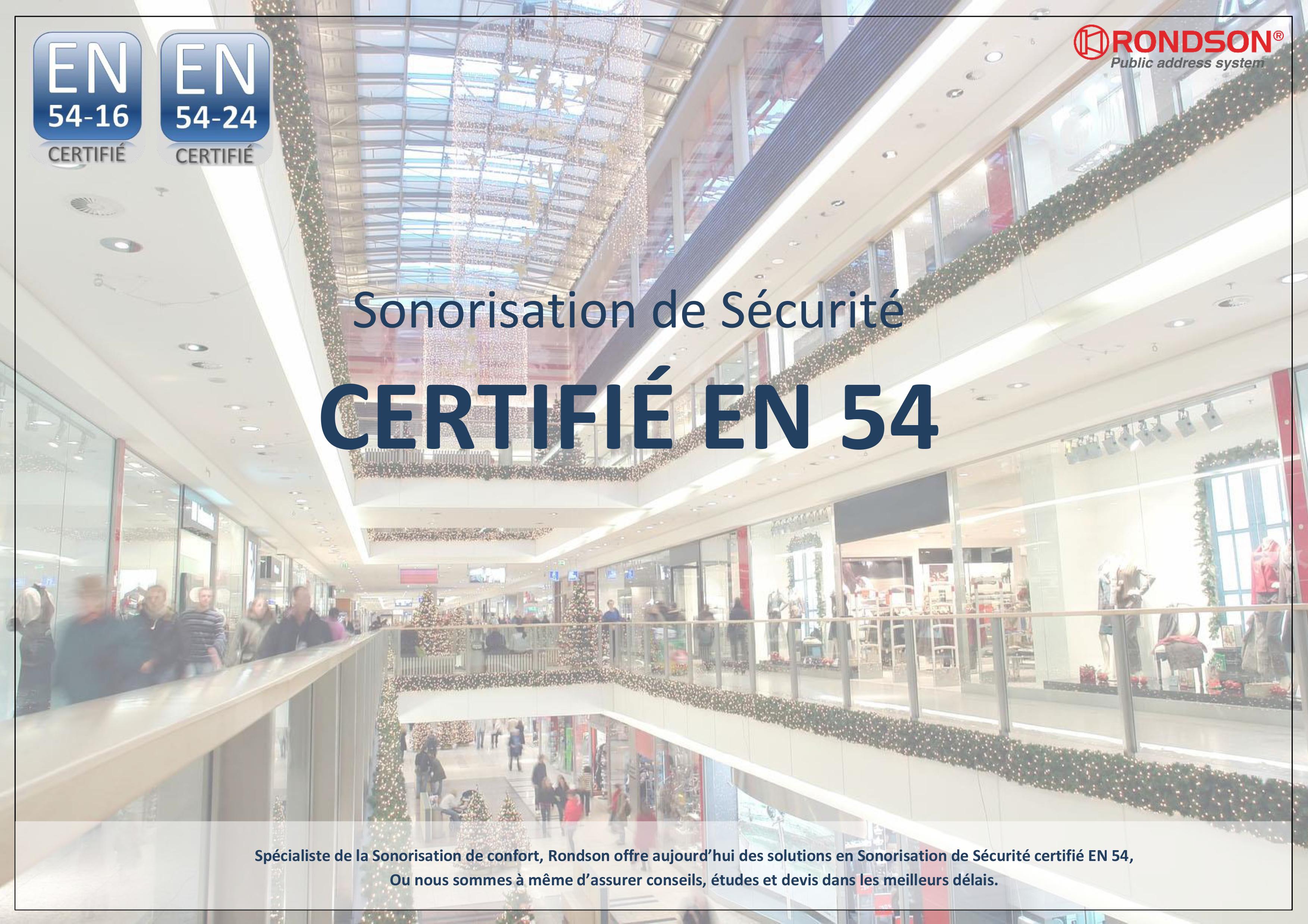 Sonorisation de sécurité EN 54