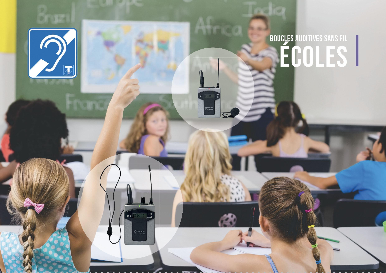 boucle auditive individuelle pour école