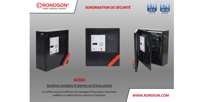 SYSTEME COMPLET D'ALARME ET D'EVACUATION - AE300