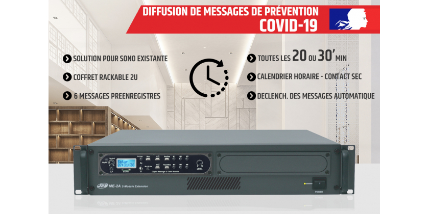 COVID-19 : DIFFUSION DE MESSAGES DE PREVENTION
